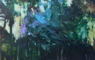 """Daybreak Pines"" - Watercolor Landscape on Yupo"